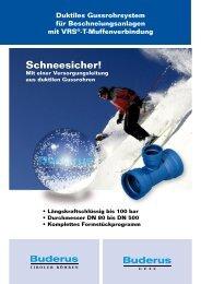 T-Muffenverbindung Schneesicher! - Duktus