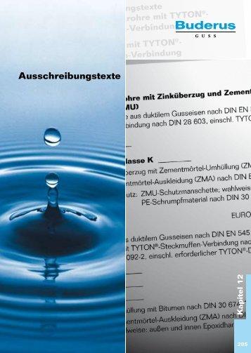 Katalog Abwasser - Kapitel 12 - Duktus
