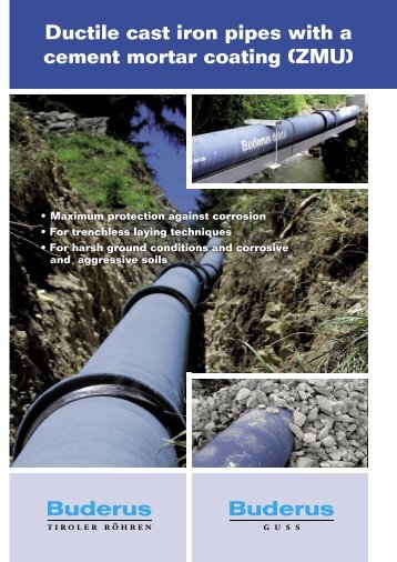 Ductile cast iron pipes with a cement mortar coating (ZMU) - Duktus