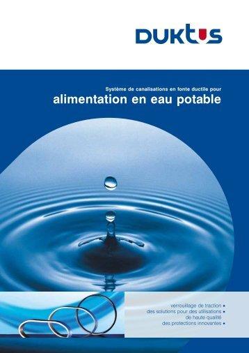 alimentation en eau potable - Duktus