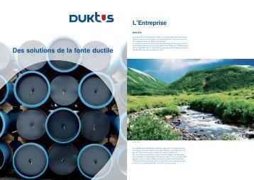 Des solutions de la fonte ductile - Duktus