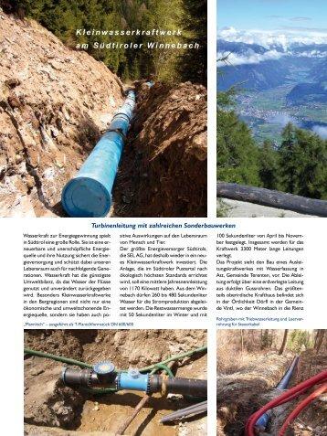 Turbinenleitung mit zahlreichen Sonderbauwerken - Duktus