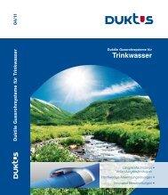 Gesamtkatalog Trinkwasser 2011 - Duktus