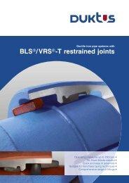 BLS®/VRS®-T restrained joints - Duktus
