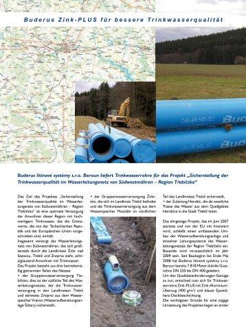 Wasserleitungsnetz Region Třebíčsko - Duktus