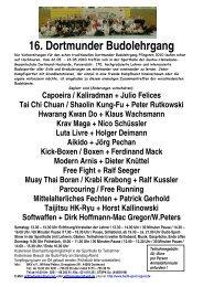 16. Dortmunder Budolehrgang - Budo Sport Report