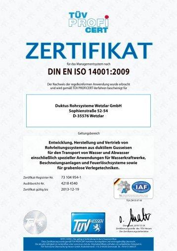 DIN EN ISO 14001:2009 - Duktus