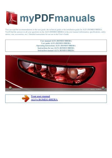 alfa romeo spider owners manual pdf image 4