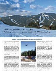 Ukrainian Carpathian mountains: Reliable snow cover ... - Duktus