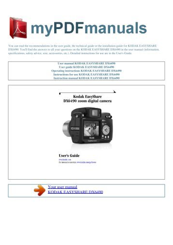Download Kodak EasyShare SPORT C123 PDF User Manual Guide
