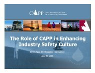The Role of CAPP in Enhancing Industry Safety ... - Hebron Project