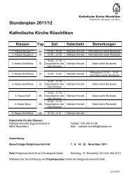 Stundenplan 2004/05