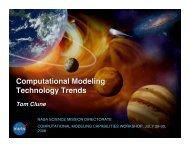 Computational Modeling Technology Trends - NASA High-End ...