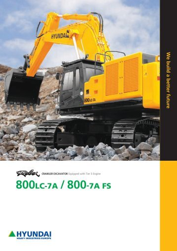 Robex 800LC-7A - Hyundai Construction Equipment & Forklift Trucks