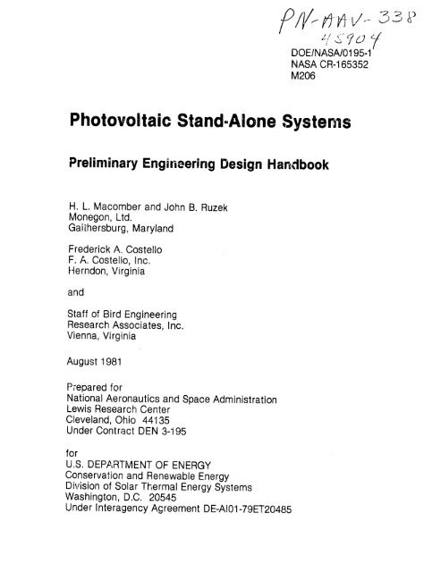 Photovoltaic Stand Alone Systems Pdf 101 Mb