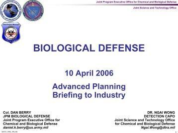 BIOLOGICAL DEFENSE