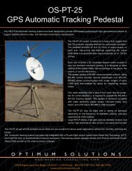 OS-PT-25 GPS Automatic Tracking Pedestal