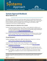 Systems Approach Workbook: Master Reference List - Contexte