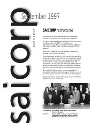 SAICORP Website newsletter - South Australia Government ...