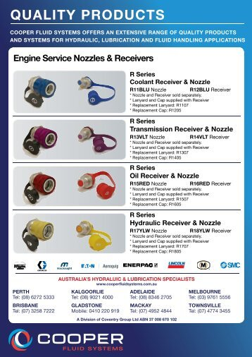 OS Series Crankcase Nozzle & Plug - Cooper Fluid Systems