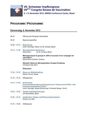 Programm/e (PDF) - Congrex Schweiz
