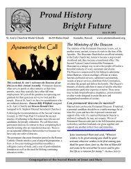 Parish Bulletin - July 29, 2012 Answering the Call - St. Ann's Model ...