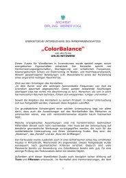 Geomantische Untersuchung Color Balance