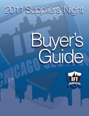 2011 Suppliers' Night - Chicago Section IFT