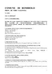 BANDO DI GARA N.1 Inviato Regione Manutenz. Riqu.Urb.Capol ...