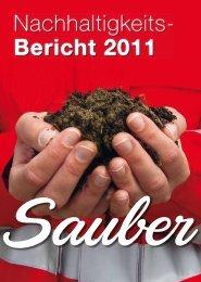 Nachhaltigkeitsbericht 2011 - Saubermacher Dienstleistungs AG