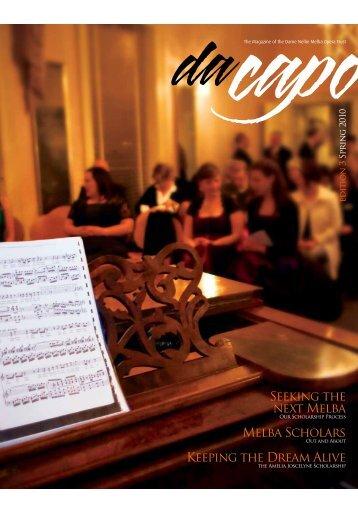 Seeking the next Melba Melba - Dame Nellie Melba Opera Trust