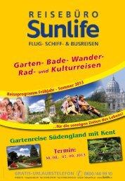 2013 - Sunlife Reisebüro & Busreisen