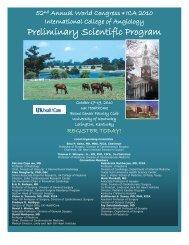 Preliminary Scientific Program - International College of Angiology