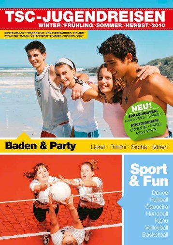 baden & party - Jugendreisen