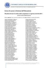 Corso di Laurea in Scienze dell'Educazione - Università degli studi ...