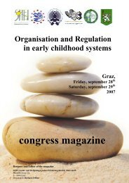 Congress magazine: Organisation And Regulation In Early - Sozial