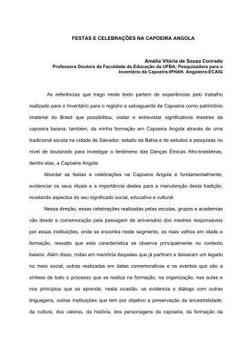 FESTAS E CELEBRAÇÕES NA CAPOEIRA ANGOLA ... - LACED