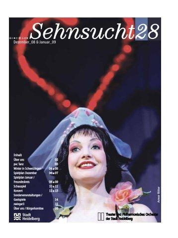 """Theaterzeitung """"Sehnsucht"""" Nummer 28 ... - Stadt Heidelberg"""