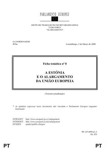 A ESTÓNIA E O ALARGAMENTO DA UNIÃO EUROPEIA - Europa