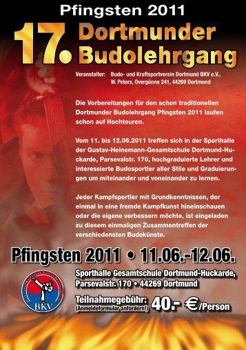Pfingsten 2011 • 11.06.-12.06. - Budo Sport Report