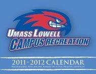 2011 2012 CALENDAR - University of Massachusetts Lowell