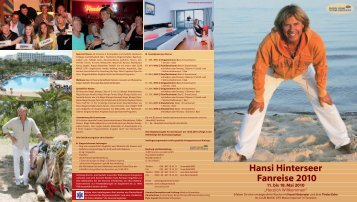 Hansi Hinterseer Fanreise 2010 - Wunderweib