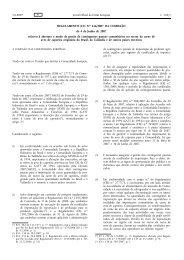 REGULAMENTO (CE) N.o 616/2007 DA COMISSÃO de ... - EUR-Lex