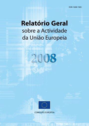 Relatório Geral sobre a Actividade da União Europeia 2008 - Europa