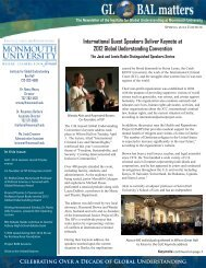 Celebrating Over a Decade of Global Understanding - Monmouth ...