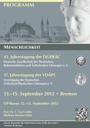 13. September 2012 - DGPRÄC