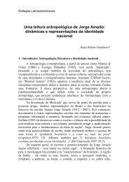 Uma leitura antropológica de Jorge Amado - Latin American Centre