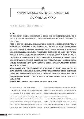 O ESPETÁCULO NA PRAÇA: A RODA DE CAPOEIRA ANGOLA - Uerj