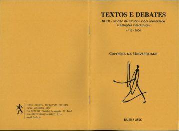 TEXTOS E DEBATES. - CFH - Ufsc