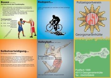 Download Infobroschüre - Polizeisportverein Georgsmarienhütte